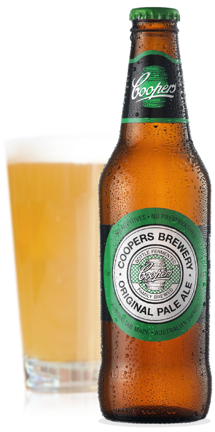 Coopers Original Pale Ale Bottle and Glass