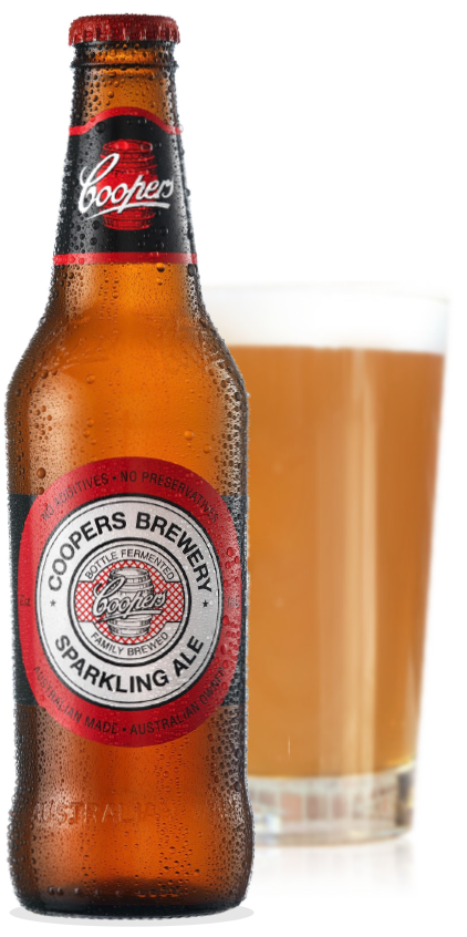 Coopers Sparkling Ale Bottle and Glass
